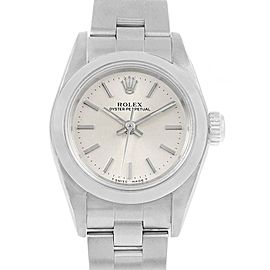 Rolex Oyster Perpetual Nondate Steel Silver Dial Ladies Watch 67180