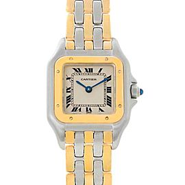 Cartier Panthere Ladies Steel 18K Yellow Gold 3 Row Watch W25029B6