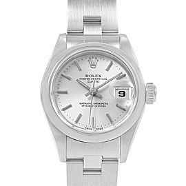 Rolex Date Silver Dial Oyster Bracelet Steel Ladies Watch 69160
