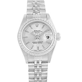 Rolex Date Silver Dial Steel Ladies Watch 69240 Box Papers