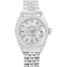 Rolex Datejust 26 Steel 18K White Gold Fluted Bezel Ladies Watch 69174