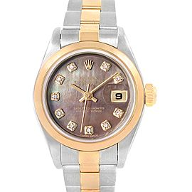 Rolex Datejust Steel Yellow Gold Diamond Ladies Watch 79163