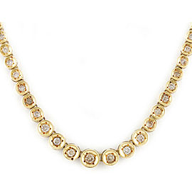 18K Yellow Gold Diamond Necklace CHAT-914