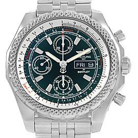 Breitling Bentley Motors GT II Green Dial Mens Watch A13365 Box Card