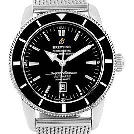 Breitling Superocean Heritage 46 Black Dial Mesh Bracelet Watch A17320