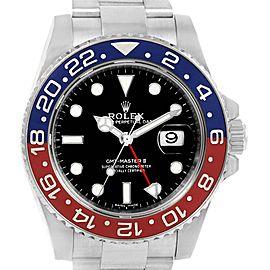 Rolex GMT Master II White Gold Pepsi Bezel Mens Watch 116719 Box Card