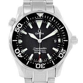 Omega Seamaster Midsize Black Dial Steel Quartz Mens Watch 2262.50.00