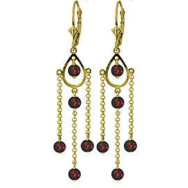 3 CTW 14K Solid Gold Gilded Age Garnet Earrings