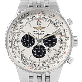 Breitling Navitimer Heritage Silver Dial Mens Watch A35350 Box Papers