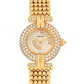 Cartier Colisee Yellow Gold Diamond Limited Edition Ladies Watch 1980