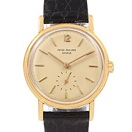 Patek Philippe Calatrava Vintage Yellow Gold Automatic Mens Watch 3435