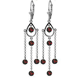 3 CTW 14K Solid White Gold No Absolute Completion Garnet Earrings
