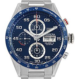 Tag Heuer Carrera Blue Dial Chronograph Steel Mens Watch CV2A1V