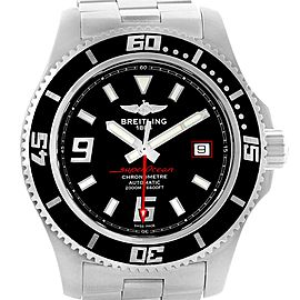 Breitling Aeromarine Superocean 44 Red Hand Mens Watch A17391 Box