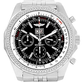 Breitling Bentley Motors Chrono Black Dial Mens Watch A44362 Box Papers