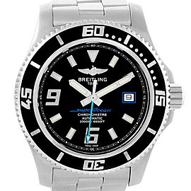 Breitling Aeromarine Superocean 44 Blue Hand Watch A17391 Box Papers