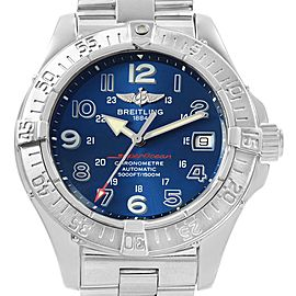 Breitling Superocean Steelfish Blue Dial Mens Watch A17360