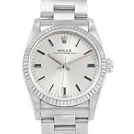 Rolex Midsize 31 Steel White Gold Silver Dial Ladies Watch 67514
