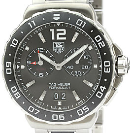 TAG HEUER Formula 1 Grand Date Alarm Steel Mens Watch WAU111C