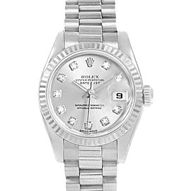 Rolex President Ladies 18k White Gold Diamond Ladies Watch 179179