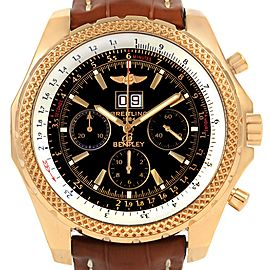 Breitling Bentley Motors 6.75 Yellow Gold Chronograph Mens Watch K44362