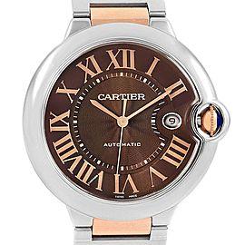 Cartier Ballon Bleu Steel Rose Gold Brown Dial Unisex Watch W6920032
