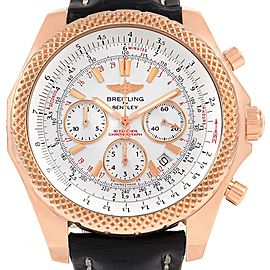 Breitling Bentley Rose Gold Silver Dial Chronograph Watch R25367