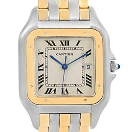 Cartier Panthere Jumbo Steel 18K Yellow Gold Three Row Quartz Watch
