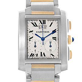 Cartier Tank Francaise Steel 18K Yellow Gold Chrongraph Watch W51004Q4
