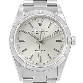 Rolex Air King 34 Oyster Bracelet Steel Mens Watch 14010 Box Papers