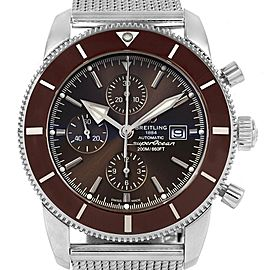 Breitling SuperOcean Heritage II Chrono 46 Watch A13312 Box PapersBronze