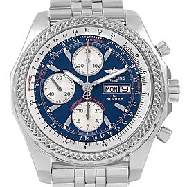 Breitling Bentley Motors GT Blue Dial Sreel Mens Watch A13362