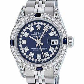 Rolex Datejust 79160 Stainless Steel & 18K White Gold Diamond & Sapphire 26mm Watch