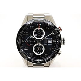 Tag Heuer Carrera Chronograph CAR2A10 SS 43mm Mens Watch