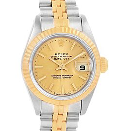Rolex Datejust 26 Steel Yellow Gold Fluted Bezel Ladies Watch 69173