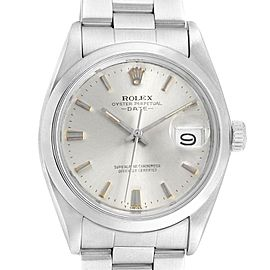 Rolex Date Silver Dial Automatic Steel Vintage Mens Watch 1500