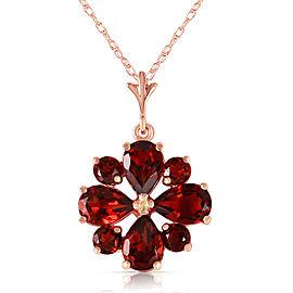 2.43 CTW 14K Solid Rose Gold Winter Garnet Necklace