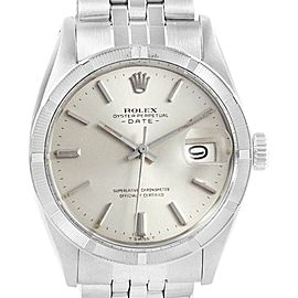 Rolex Date Stainless Steel Silver Dial Vintage Mens Watch 1501