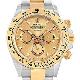 Rolex Cosmograph Daytona Steel Yellow Gold Mens Watch 116503 Box Card