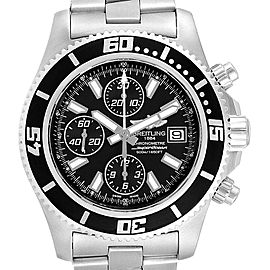 Breitling SuperOcean II Black Dial Chronograph Steel Mens Watch A13341