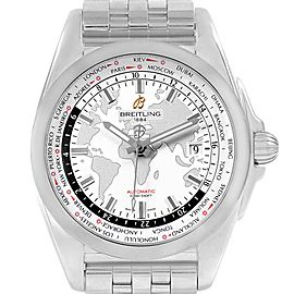 Breitling Galactic Unitime SleekT White Dial Mens Watch WB3510