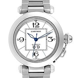 Cartier Pasha C Midsize Big Date Automatic Steel Unisex Watch W31044M7