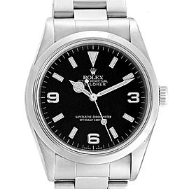 Rolex Explorer I 36 Black Dial Stainless Steel Mens Watch 14270