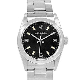 Rolex Midsize 31mm Black Dial Automatic Steel Ladies Watch 67480