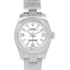 Rolex Oyster Perpetual Nondate White Dial Ladies Watch 176200