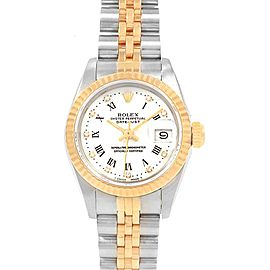 Rolex Datejust Steel Yellow Gold Roman Diamond Dial Ladies Watch 69173