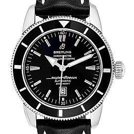 Breitling Superocean Heritage 46 Black Dial Steel Watch A17320