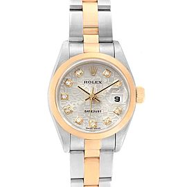 Rolex Datejust Steel Yellow Gold Anniversary Diamond Ladies Watch 69163