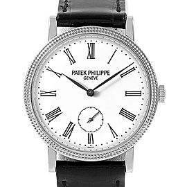 Patek Philippe Calatrava 31mm White Gold Ladies Watch 7119G Box Papers