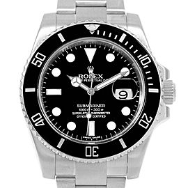 Rolex Submariner 40 Cerachrom Bezel Black Dial Watch 116610 Box